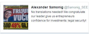 """Samonig voli """"našeg lidera"""""""